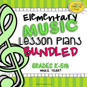 234 Elementary music lesson plans for the whole year!