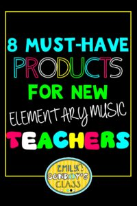 products for new elementary music teachers