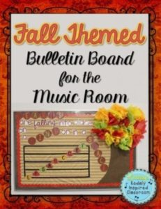 fall bulletin board cover