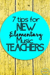 tips for new elementary music teachers